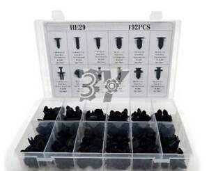 192Pcs Auto Push Clips Retainer Assortment Kit Car Shield Pin Rivet Fasteners