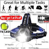 Zoom Waterproof 90000LM T6 LED Headlamp Headlight Flashlight Head Torch 18650 .