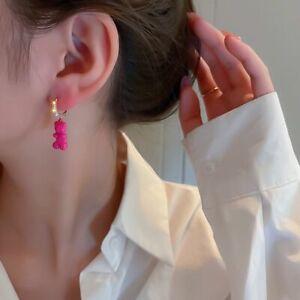 Alloy Korean Fashion Earrings Ear Buckle Cartoon Dangle Earrings Women Jewelry