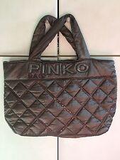Borsa Pinko Bag Shopping Marrone Edizione Limitata Pinkobag Fashion Matelasse