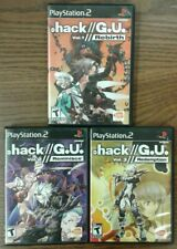 dot Hack G.U. Volume 1, 2, & 3 (Sony PlayStation 2, 2006-07) Manuals Included