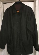 Marco Pierguidi Italy Soft   Green Leather Field Coat Jacket 48  Worn Many Times