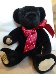 "Merrythought Traditional BLACK Jointed 10"" Teddy Bear"