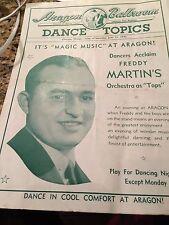 PROGRAM ARAGON BALLROOM CHICAGO ILL. JUNE 1940, FREDDY MARTIN'S ORCH. AS TOPS