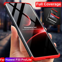 For Huawei P30 Pro Lite Hybrid 360° Protective Armor Case Cover+Screen Protector