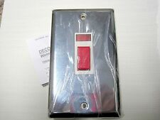 VOLEX CHROME DOUBLE POLE 45A NEON COOKER SWITCH     PART NO. DEC395