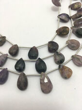 Charolite Faceted Pears, 10 to 16mm, 8inches, Gemstone Beads, Semiprecious Beads
