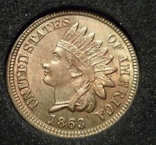 1863 6/6 INDIAN CENT - PQ CHOICE BU+++ - Rare Snow 14 S14 RPD Repunched Date