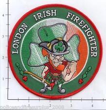 United Kingdom - London Irish Firefighter Fire Patch - Leprechaun