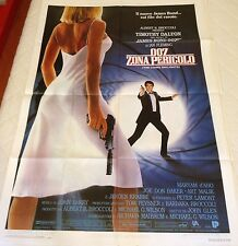 MANIFESTO 2F AGENTE 007 ZONA PERICOLO TIMOTHY DALTON