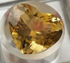 Citrine taille coeur à facettes 10,30 carats