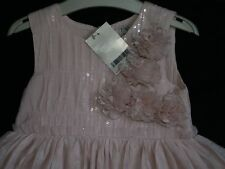 GIRL'S  NEXT PINK SEQUIN SPARKLE OCCASION PARTY DRESS 5 - 6 YRS NEW WITH TAG