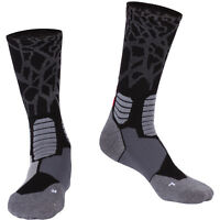 Foclassy Men's Compression Socks Athletic Cushioned Crew Socks Over the Calf 1P