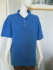 TNX - Royal Blue, 3 Button, Polo Shirt Size Medium  100%cotton