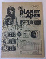 1974 PLANET OF THE APES ad page for belts and buckles ~ GO APE!