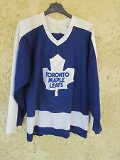 Maillot hockey TORONTO MAPLE LEAFS NHL CCM vintage shirt années 90 bleu S
