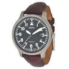 Aristo Unisex Reloj Automático Observador 3h114 acero inoxidable cuero 5atm