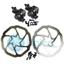 New Shimano BR-M375 Mechanical Disc Brake Calipers set with Avid HS1 rotor 160mm