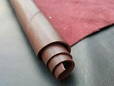 REED LEATHER HIDES - COW SKINS Burgundy 8 inches X 11 Inches