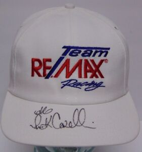 Vtg 1990s Rick Carelli Signed Autographed Team ReMax Racing Nascar Hat COA CASE