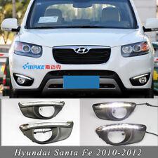 2X LED Daytime Running Lights DRL Fog Lamp for Hyundai Santa Fe 2010-2012