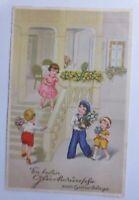 """""""Geburtstag, Kinder, Blumen, Treppe""""  1933 ♥"""