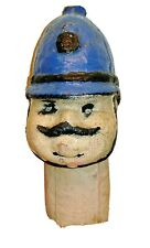 Antique Paper Mache Doll Head Policeman British Bobby Hand Painted