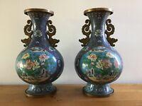 Chinese Antique huge Cloisonne Vase pair 64cm (H) USA