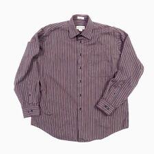 Pronto Uomo Non Iron Dress Shirt Mens Large Button Front Striped NWOT