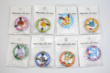 "Pokemon With You lot of 8 Umbreon Espeon Vaporeon 1"" can badges full Eevee set"