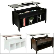 3 Colors Wood Finish Lift-Top Coffee Table Storage Livingroom Home Furniture