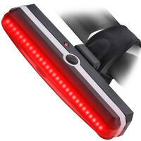LED Bicycle Bike Cycling Front Rear Tail Light USB Rechargeable 6 Modes Red USA