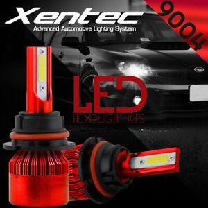 XENTEC LED HID Headlight kit 9004 HB1 6000K for 1989-1995 Subaru Justy