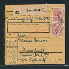 03403) AB Paketkarte Gevelsberg MeF 2x 60PF Arbeiter braunrot