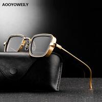 New Steampunk Sunglasses Men Women Retro Metal Square Sun Glasses Male Best