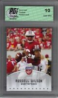 Russell Wilson 2012 Leaf Young Stars #77 Seahawks Rookie Card PGI 10