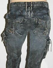 New Men's ROBIN'S JEAN sz 34 #SP5903 PREDATOR Straight Crackle-Dusty Gray