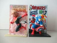 Loot Crate Captain Marvel &The Avengers Captain America 3D Comic Standee Lot