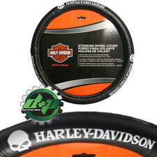 harley davidson rubber willie G steering wheel cover leather grip motorcycle HD
