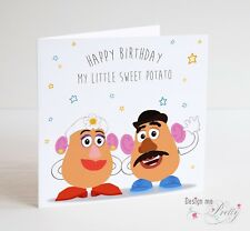 TOY STORY Birthday Card - Mr & Mrs Potato Head - My Little Sweet Potato