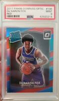2017-18 DONRUSS OPTIC RED REFRACTOR DE'AARON FOX RATED ROOKIE  PSA 9 RC /99