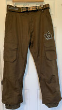 BURTON Shaun White Collection Brown DRYRIDE SNOW PANTS Ski Snowboard Size XL