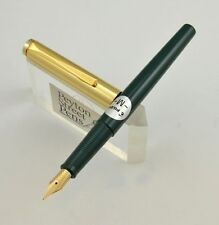"Pilot ""Tank"" Non Self Filling Fountain Pen - Eye Dropper C/C, Green GT, Med, NOS"
