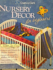 Coats & Clark Nursery Decor for Beginners 2000 hard spiral 126pg sewing book
