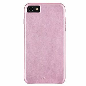 Case-Mate Leather Case for Apple iPhone 8 7 6s 6 - Metallic Blush Pink 2 mm Thin