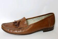 Florsheim Barletta Light Brown Leather Moc Toe Tassel Kiltie Loafers 11 M Shoes