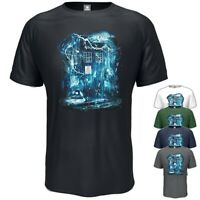 Dr Who T-Shirt Tardis Police Box Inspired Birthday Gift Vintage Style S - 5XL
