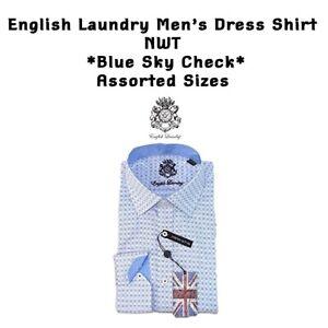 English Laundry Men's Dress Shirt Stretch Cotton NWT FREE SHIPPING