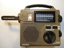 Grundig FR200 Emergency Radio AM FM SW w/ Flashlight & Built in Generator