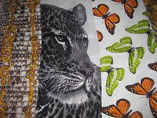 Echo Silk Carre en Carres Style Scarf - Leopard Face - 100% Silk - Butterflies
